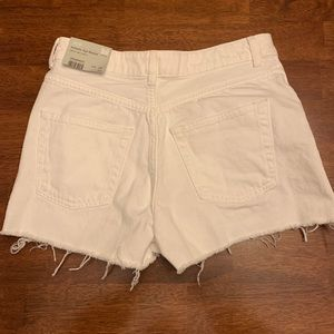 TopShop White Denim Distressed Shorts 4